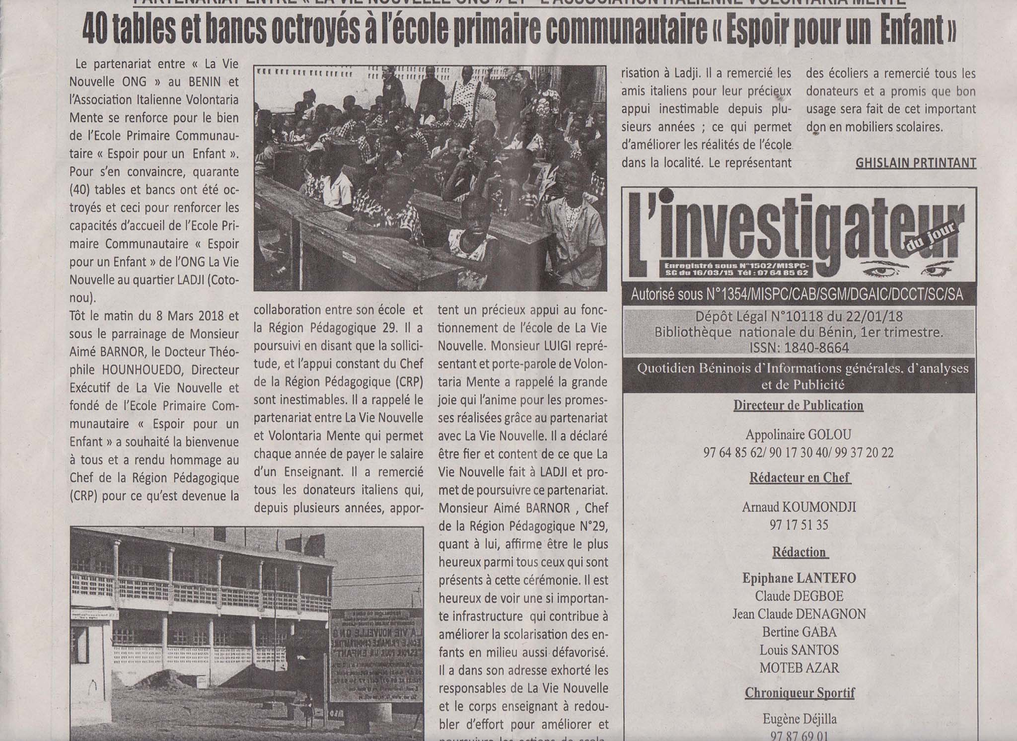 Quotidiano Benin per banchi 001